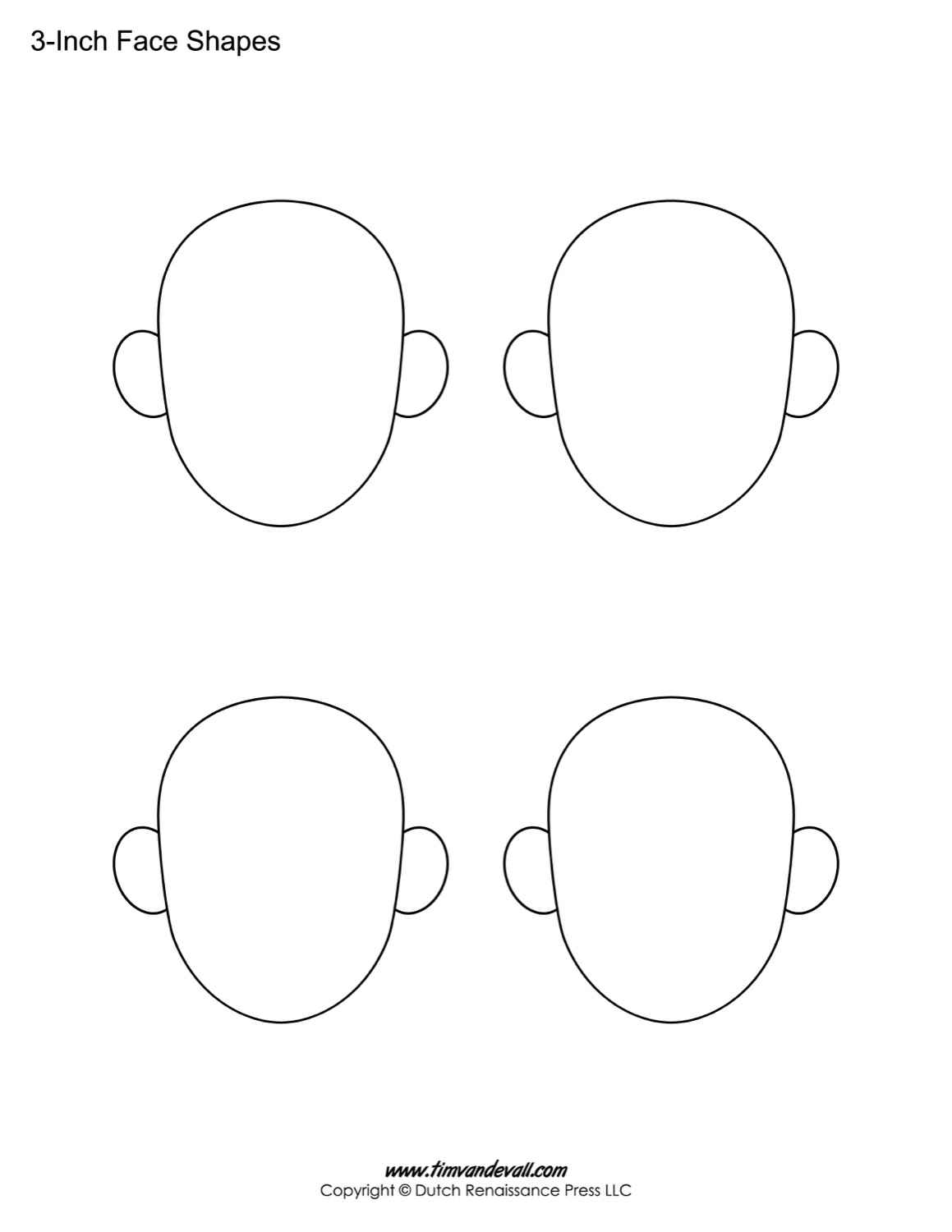 Blank Face Templates
