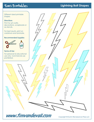 Lightning Bolt Templates