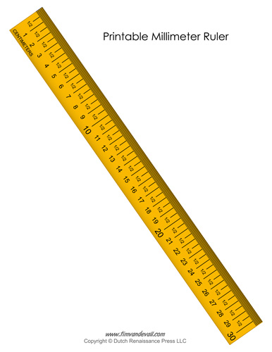 Printable Millimeter Ruler Tim S Printables