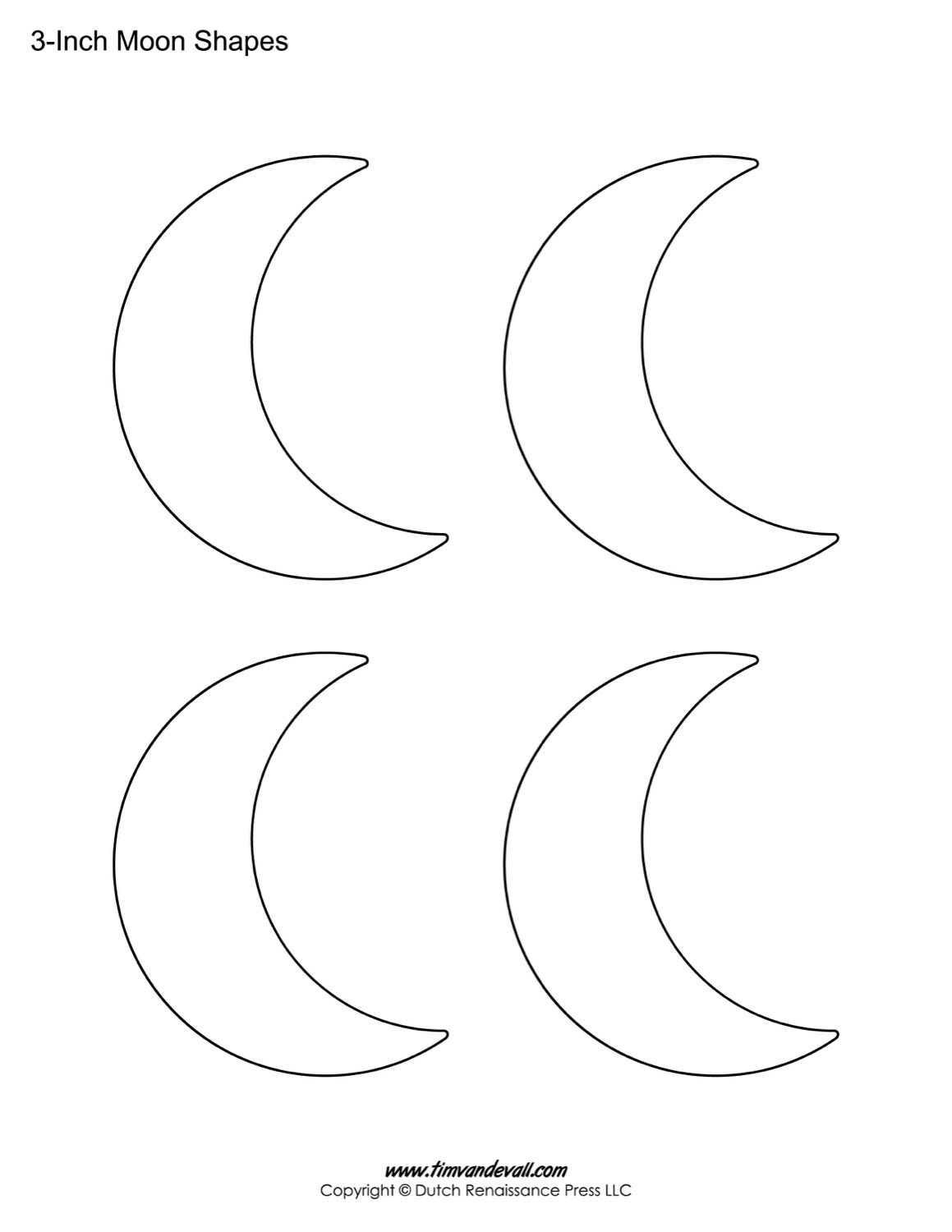 Blank Moon Templates Printable
