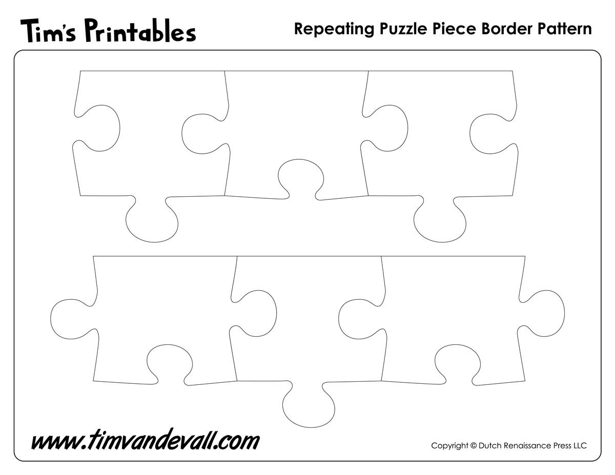 Printable Puzzle Piece Border Pattern