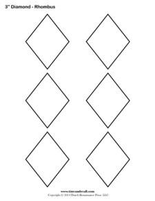Diamond Templates - 3 inch