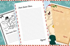 Printable Santa Letter Template for Kids