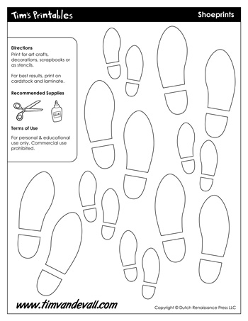 shoeprint templates