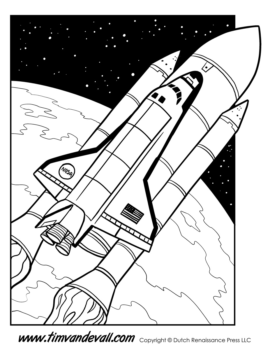 Space Shuttle Coloring Page Tim S Printables