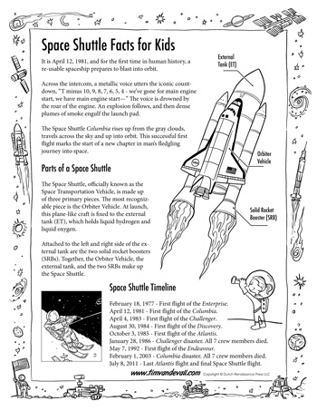 space shuttle facts for kids