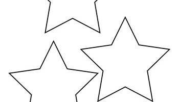 Star Template - 7 Inch - Tim\'s Printables