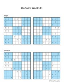 Sudoku Week #1