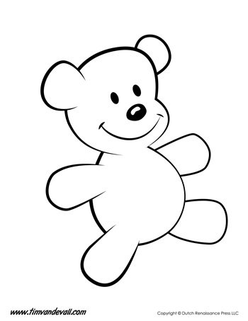 Teddy Bear Coloring Page Tim S Printables