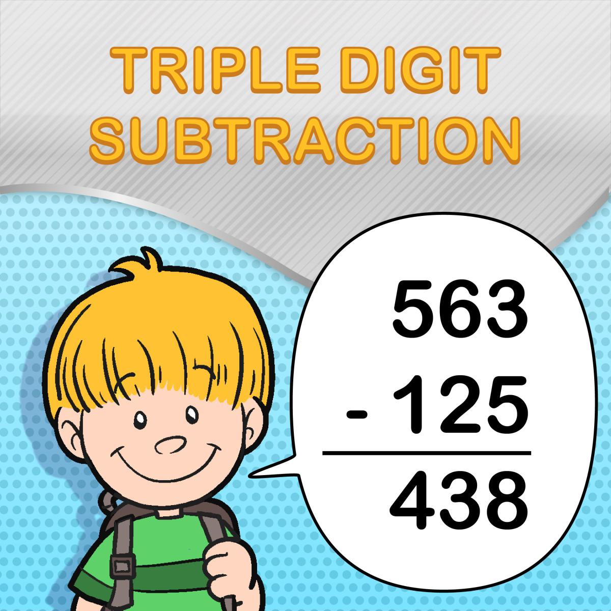 Triple Digit Subtraction Worksheets For Kids
