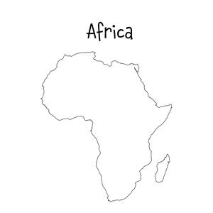 blank africa map