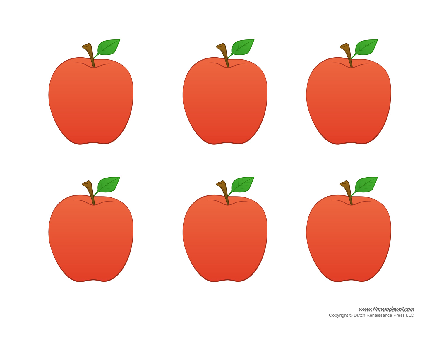 Apple Templates Tim S Printables