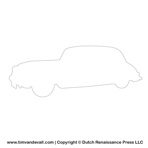 automobile outline template