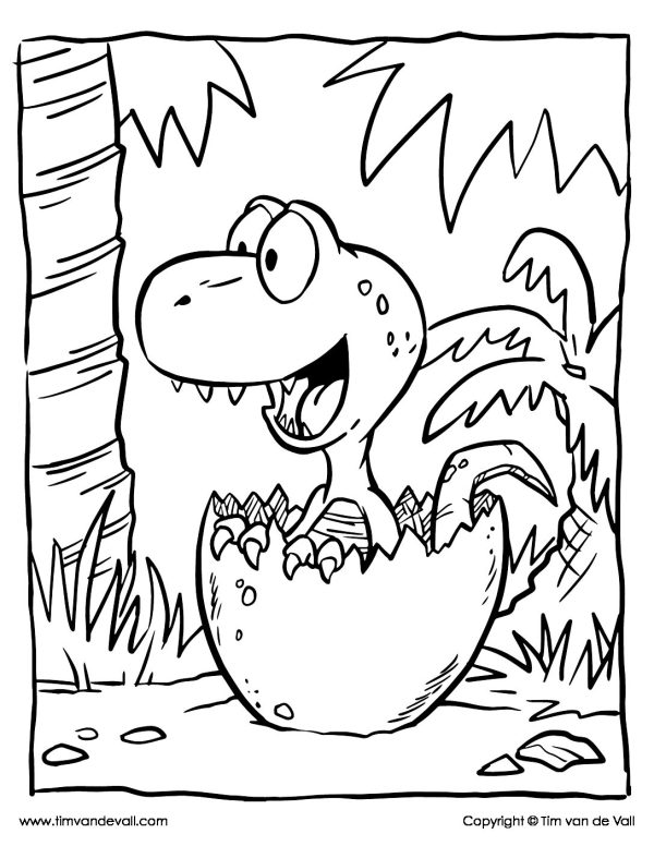 baby dinosaur coloring pages # 2