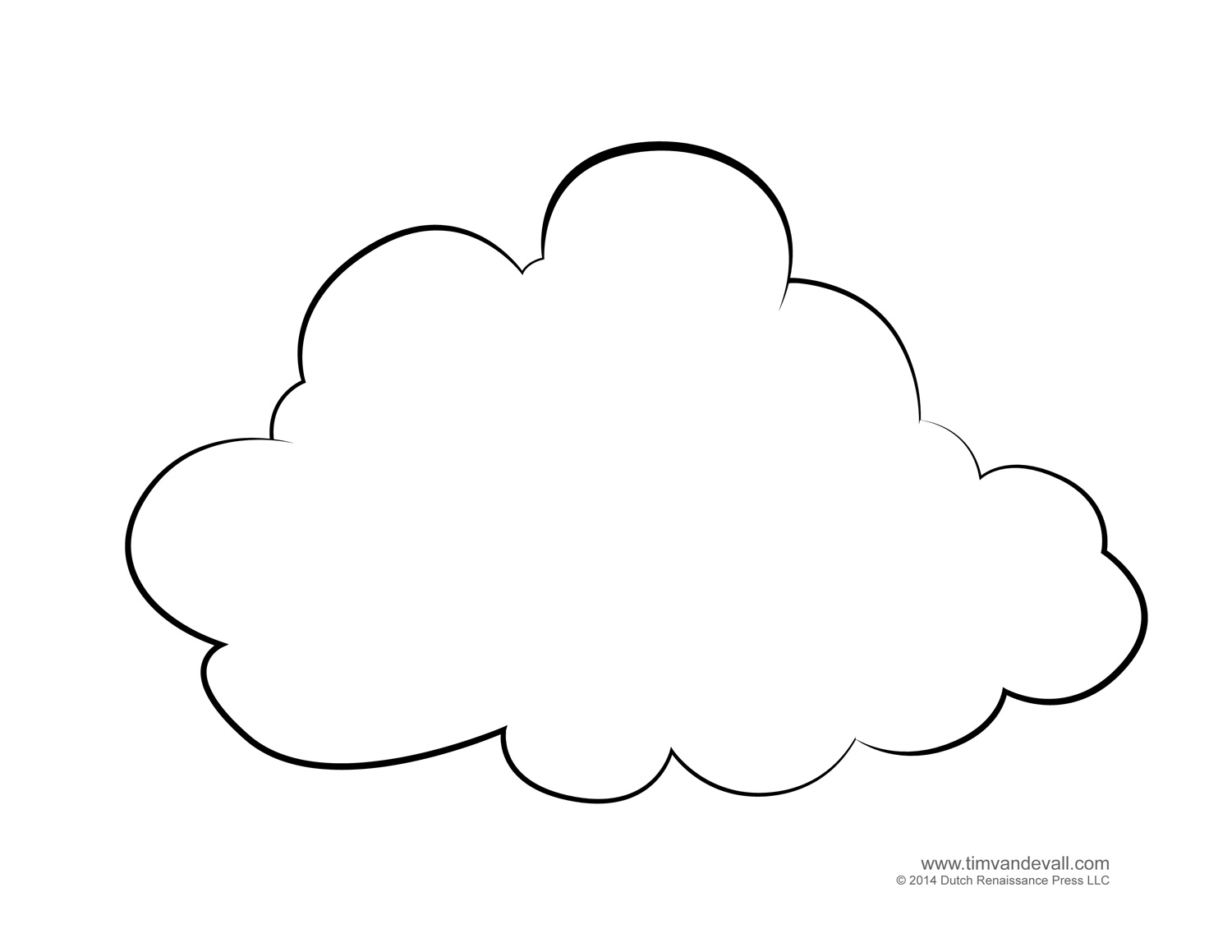 Thunder Cloud Coloring Pages