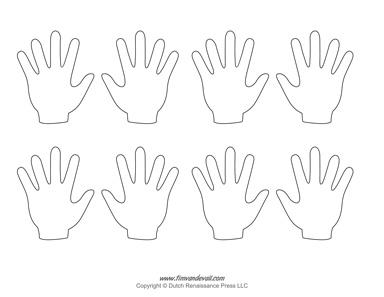 blank hand template
