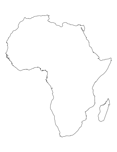 Printable Map Of Africa For Students And Kids Africa Map Template