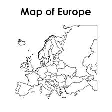 Printable Blank Map of Europe