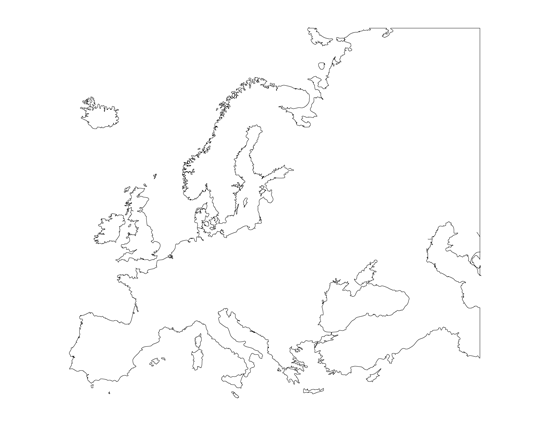 This is a graphic of Printable Map of Europe within ks2