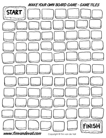 board game template tiles