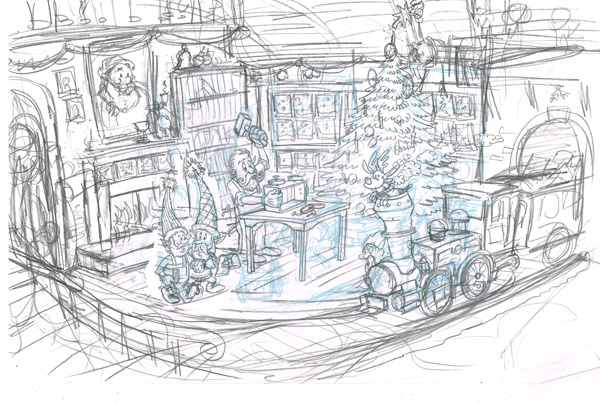 Santas workshop sketch
