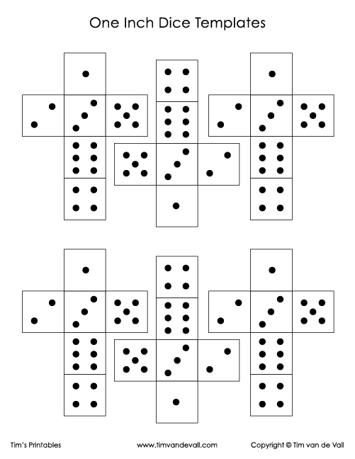 Printable Paper Dice Template Pdf Make Your Own 6 10