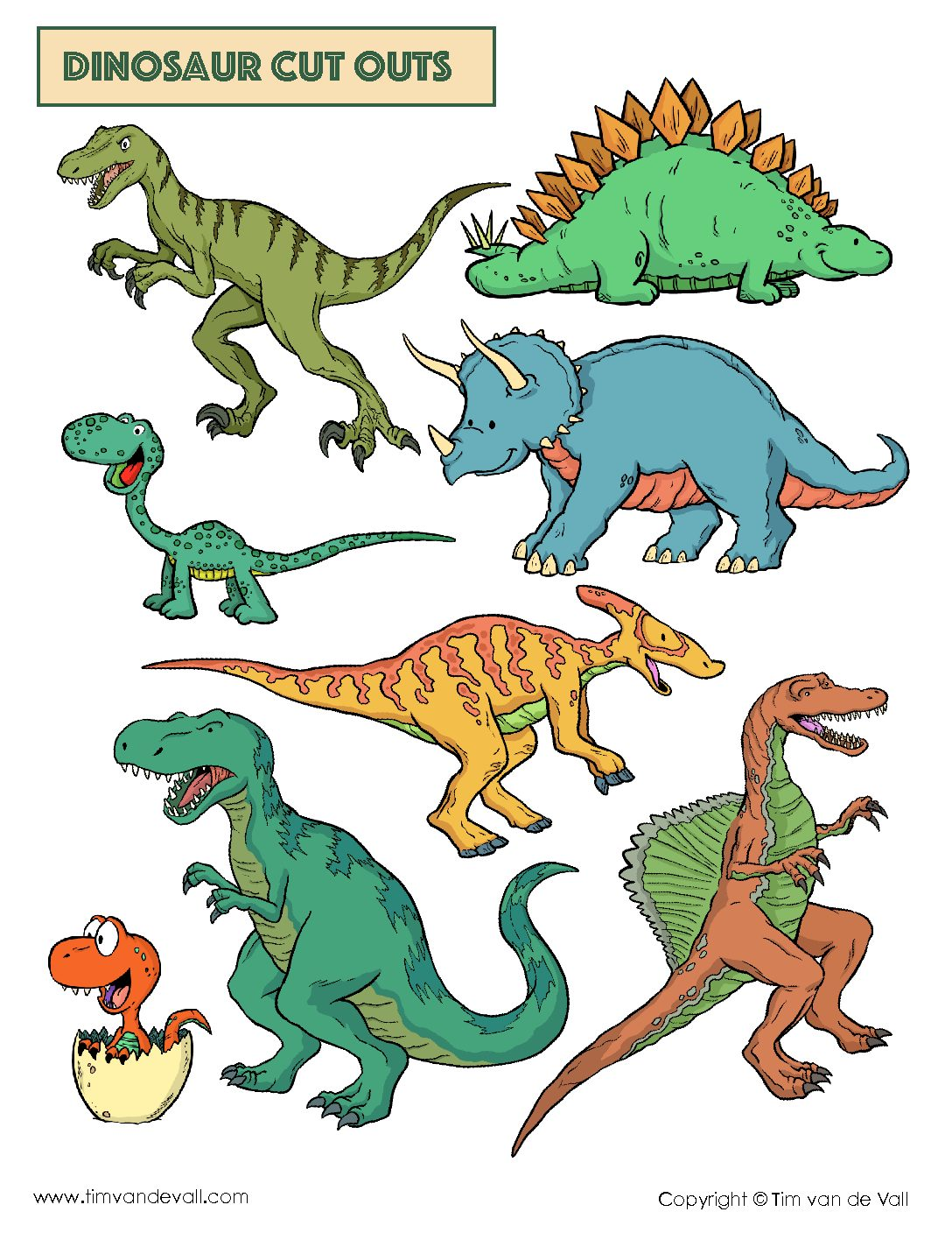 Free Dinosaur Cut Outs