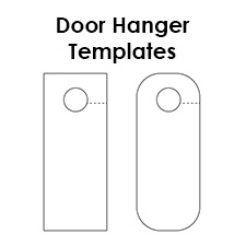 This is a graphic of Superb Free Printable Door Hanger Template