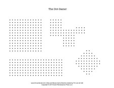 Dots and Boxes Game Sheet 2