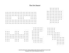 Dots and Boxes Game Sheet 3