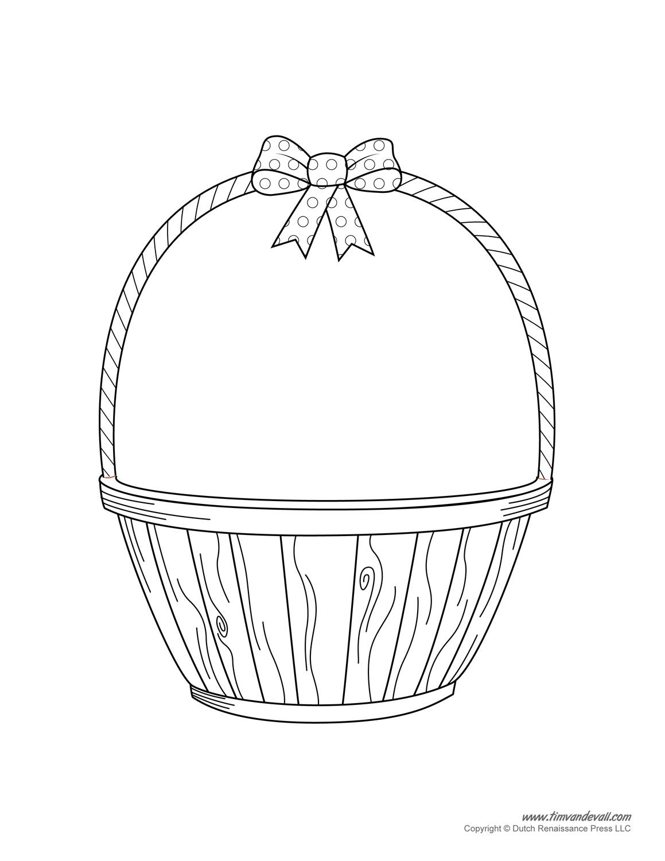 Easter Basket Template Easter Basket Clipart Amp Easter Craft