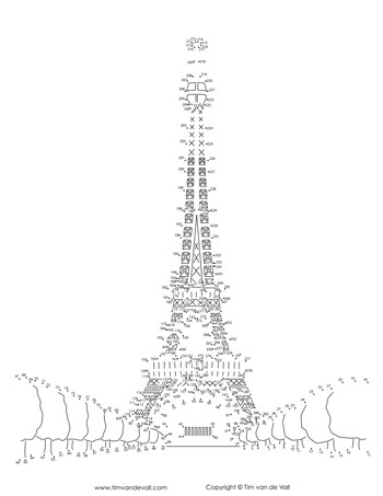 Eiffel Tower Dot-to-Dot