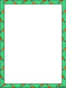 green back to school border