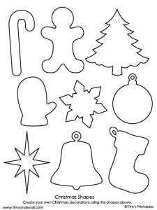 christmas shapes black and white