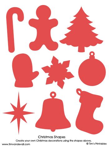 christmas shape templates