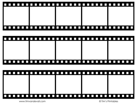 film strip templates
