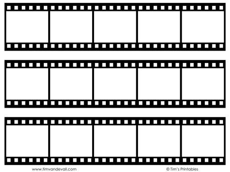film strip templates