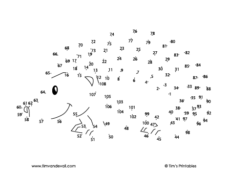 hedgehog dot-to-dot