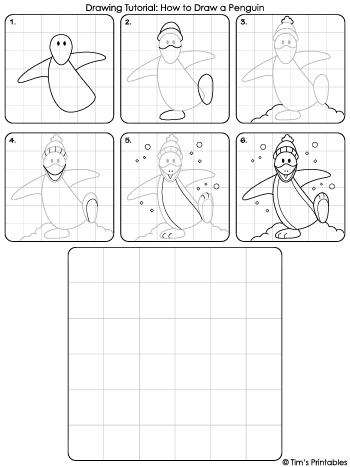 penguin drawing tutorial