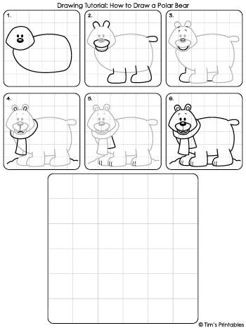 polar bear drawing tutorial