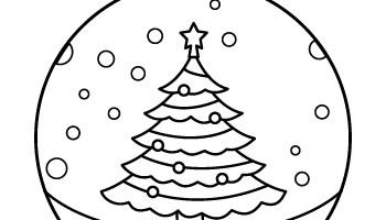Christmas Ornament Coloring Page Tim S Printables