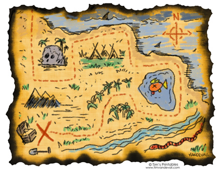 Printable Treasure Map - Tim's Printables