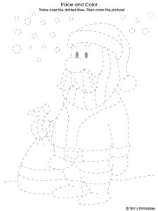 santa claus tracing sheet