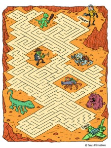 Space Maze for Kids