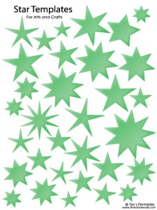 Star Templates - Green