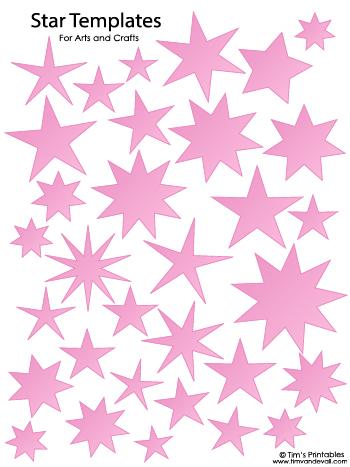 Star Templates - Pink