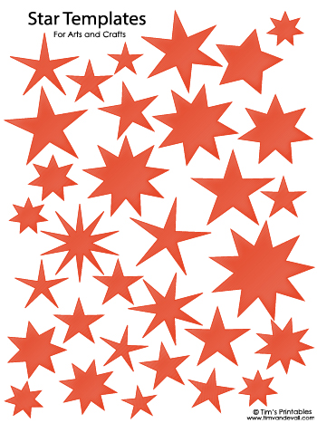 Star Templates - Red