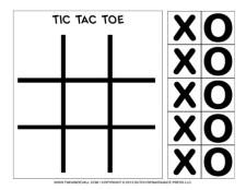 Tic Tac Toe Game - Black and White