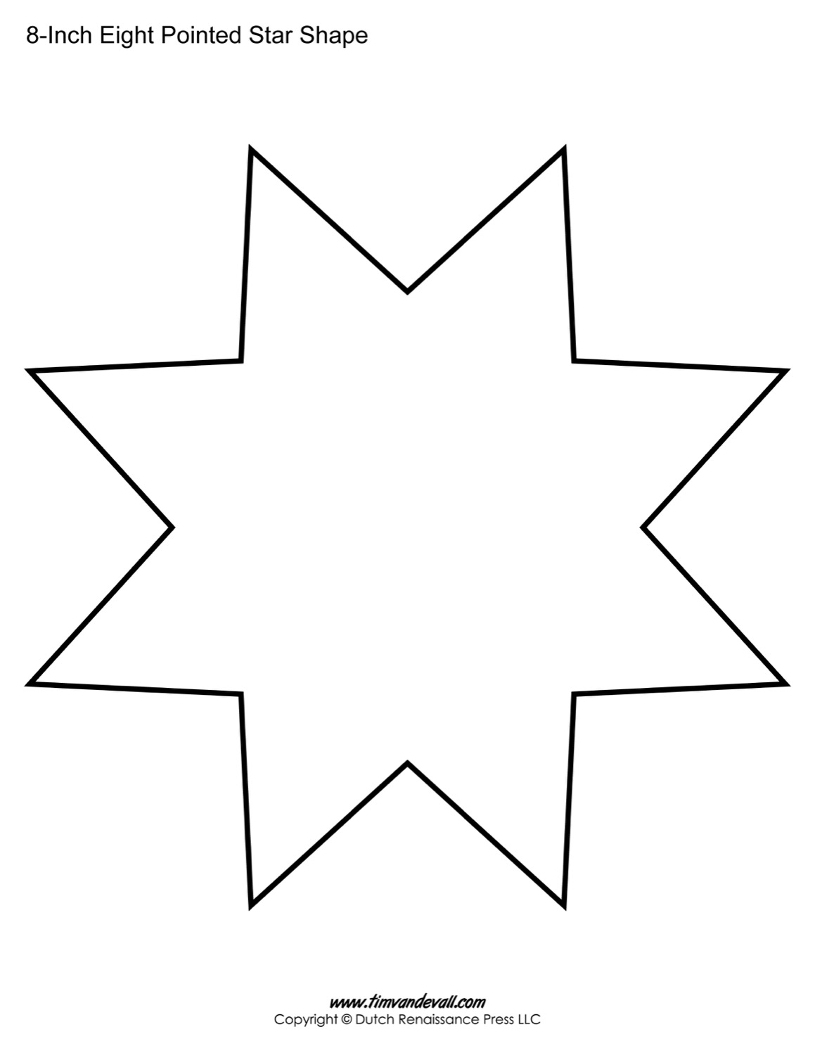 Free Eight Pointed Star Shapes