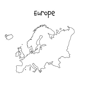 blank europe map